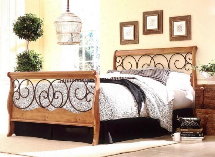 Dunhill Autumn Brown & Honey Oak Finish Full Size Wood Metal Receptacle