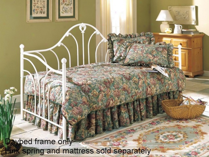 Emma Antique White Finish Iron Metal Daybed