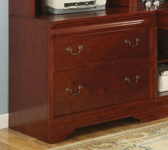 File Cabinet Louis Philippe Style In Cherry Finish