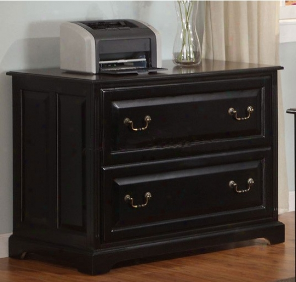 File Cabinet With Meal Hardware In Espresso Finish