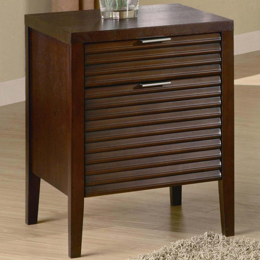 File Cabinet With Slatted Drawer Front In Warm Brown Perfect