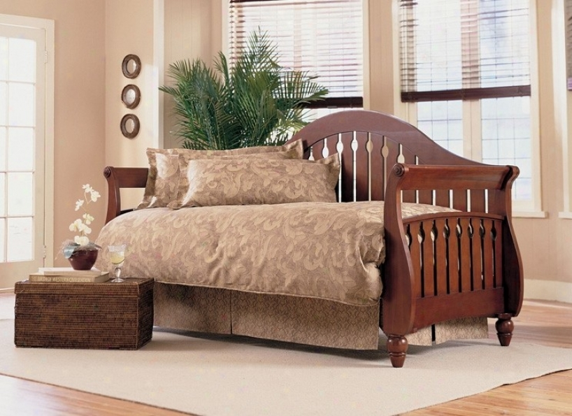 """""""""""""""fraser Daybed With Link Spring, Front Panel And Rollout In Walnut Finish"""""""""""""""