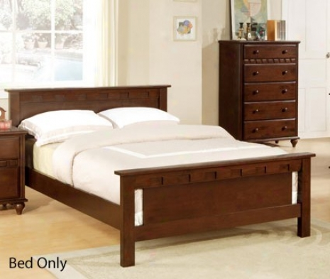 Full Size Bed With Frame - Deep BrownF inish