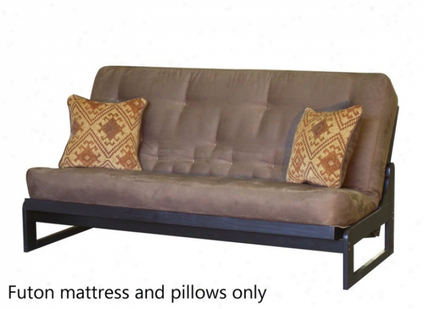 Exactly Size Futon Sofa Mattress Tufted In TaupeC olored Fabric