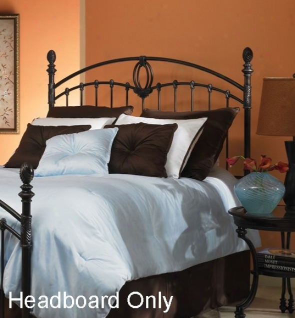 Full Sizing Metal Headboard - Coronado Transitional Design In Tarnished Copper Finish