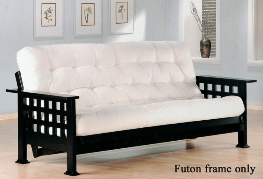 Futon Form In the opinion of Checker Design In Cappuccion Finish