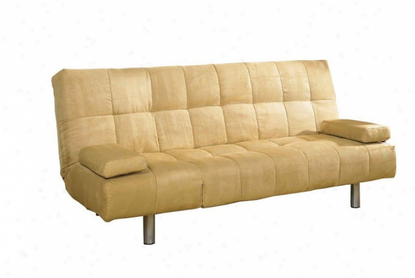 Futon Sofa Couch - Camwl Cover With Straight Metal Legs