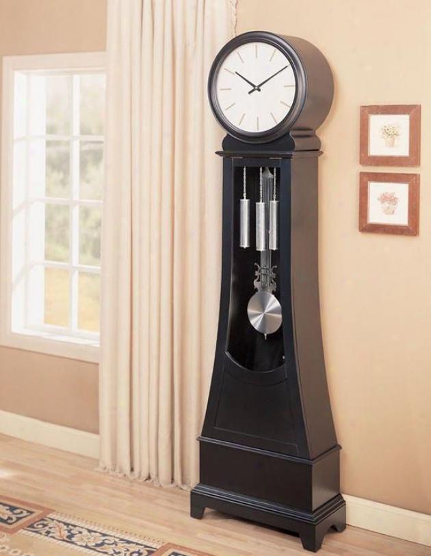 Grandfather Floor Clock In Black End