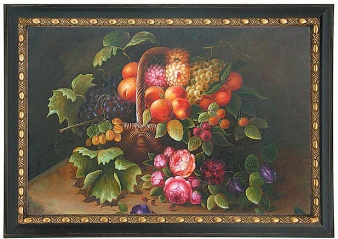 Hand Painted Oil Painting On Canvas Fruits Themed
