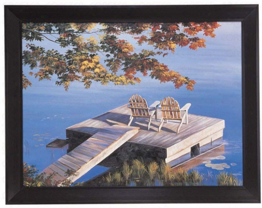 Hand Painted Oil Painting On Canvas In My Favorite Place Theme