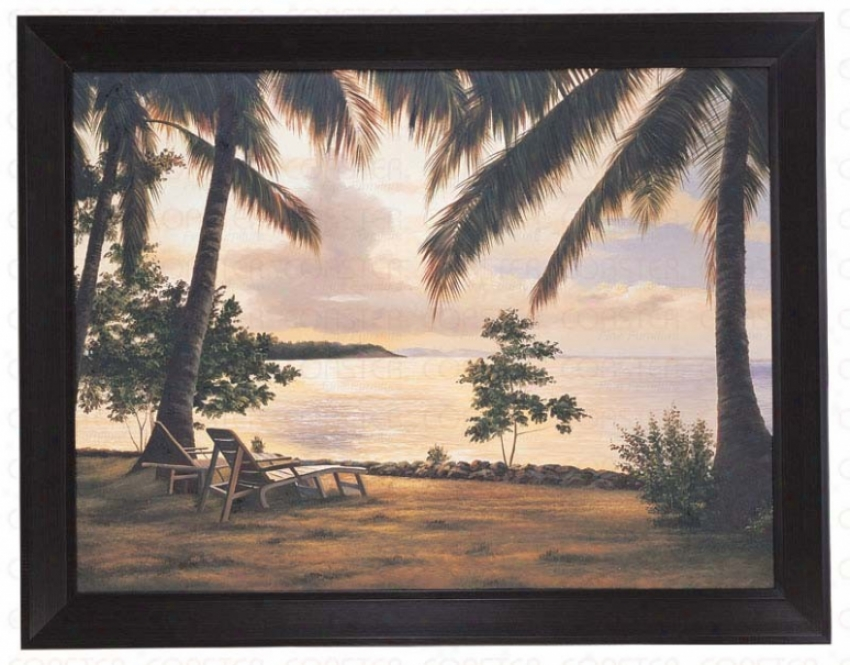 Hand Painted Oil Painting On Canvas In Palm Trees Theme