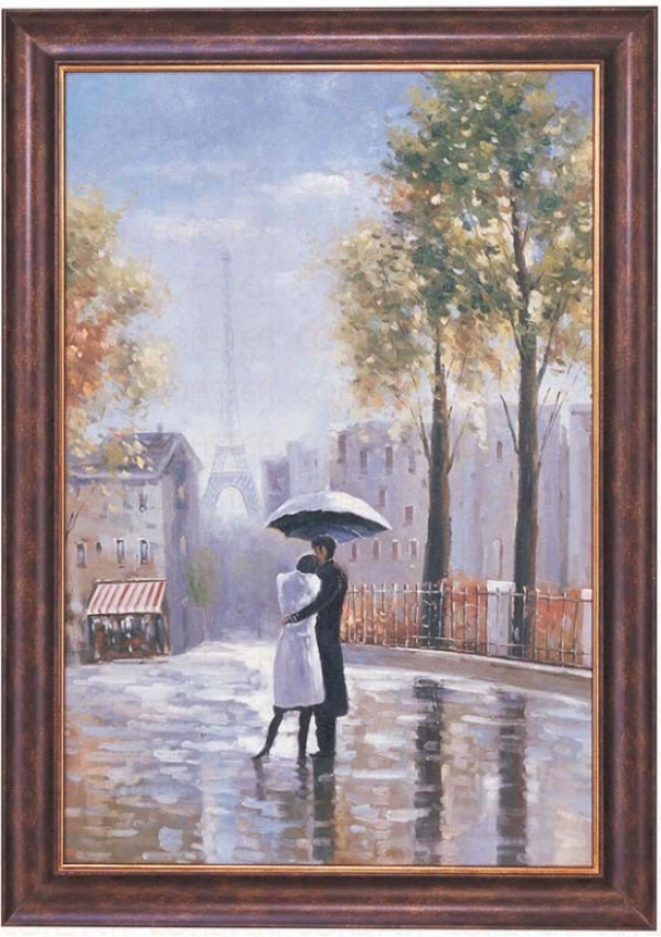 Hand Painted Oil Painting On Canvas In Paris Theme