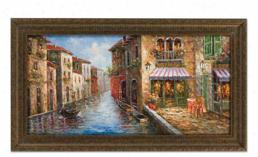 Hand Painted Oil Painting On Canvas In Ristorante Design