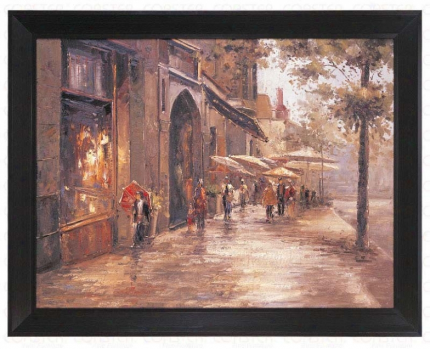 Hand Painted Oil Painting On Canvas In Street Design