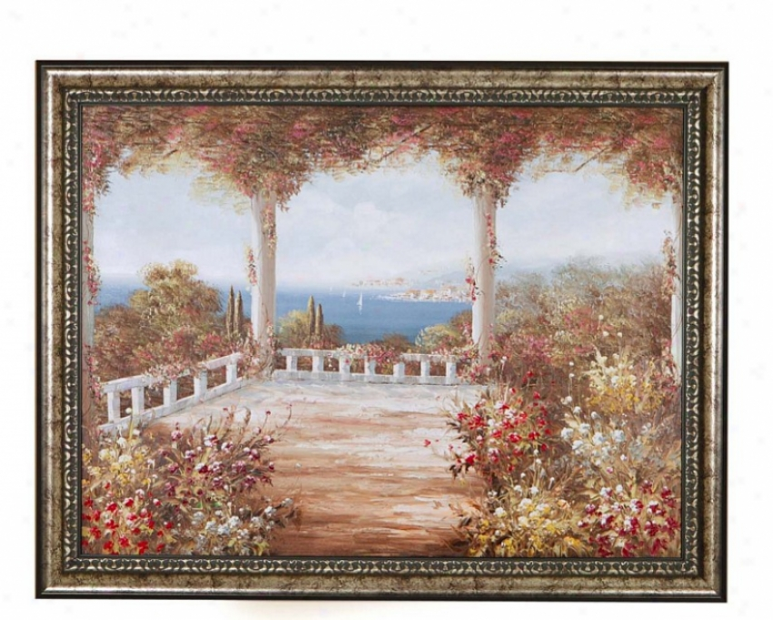 Hand Painted Oil Painting On Canvas In Via Rosa Theme