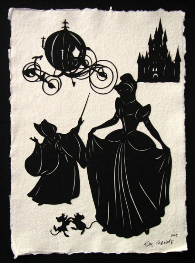 Handmade Papercut Art - Cinderella Silhouette