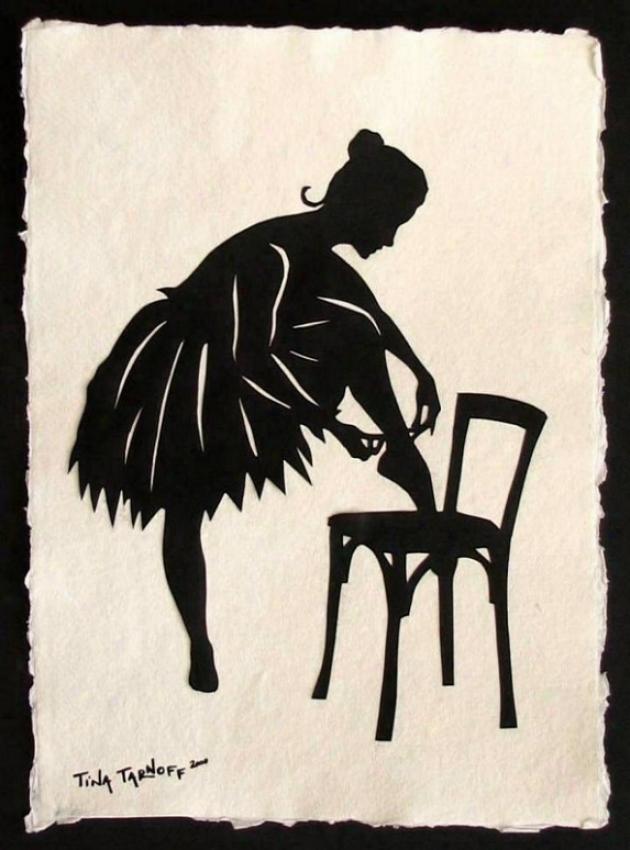 Handmade Papercut Art - Dancer Anna Pavlova Silhouette