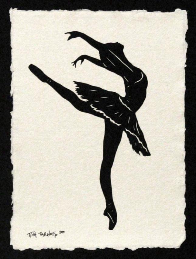 Handmade Papercut Art - Dancer Sylvie Guillem Silhouette 3
