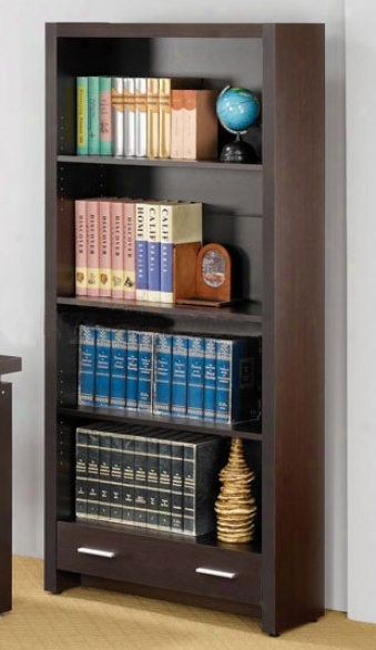 Home Office Bookcase In Cappuccino Finish