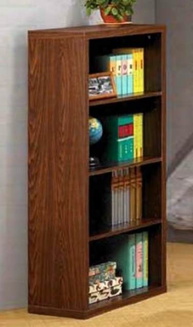 Home Office Bookcase In Dark Oak Finish