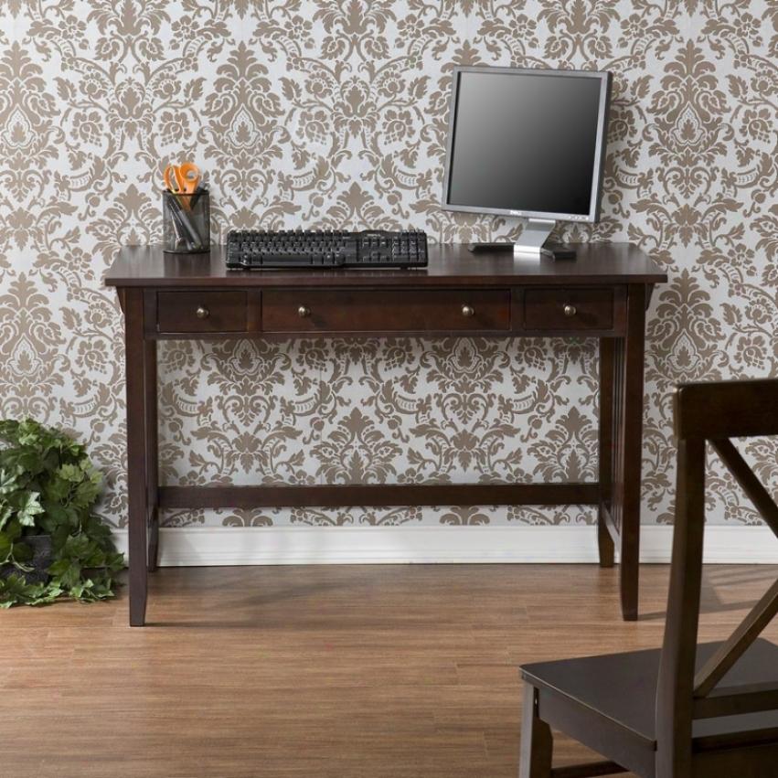 Home Office Computer Desk Mission Style In Espresso Finish