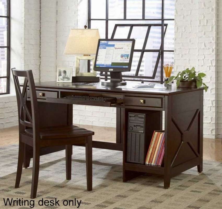 Home Office Computer Writing Desk In Espresso Finish