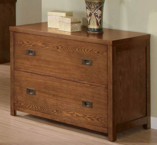 Home Office File Cabinet With Sleek Line sIn Oak Perfect