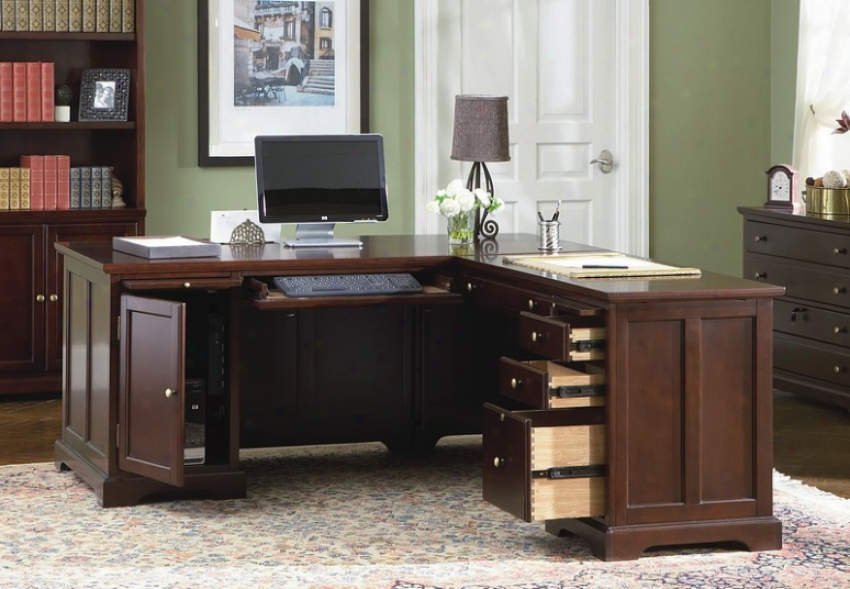 Home Office L-shape Computer Writing Desk With Storage