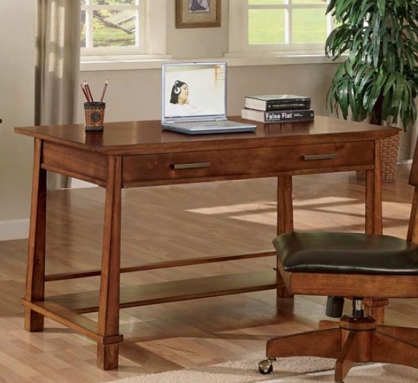 Home Office Working Desk In Light Brown Fiinsh