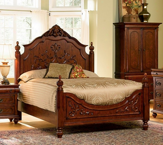 Isabella Bedroom Collection Solid Hardwold Queen Size Bed