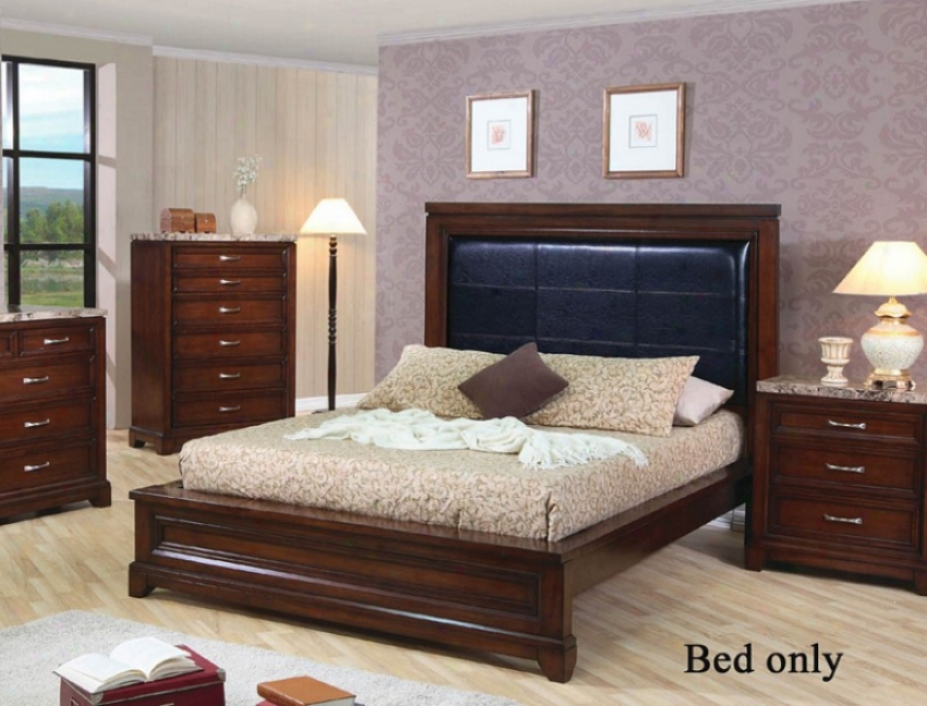 King Size Bed In Mahogany Finish