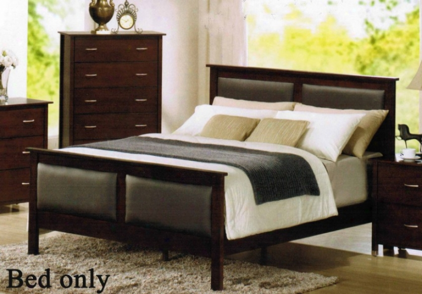 King Bigness Bed With Bycast Headboard In Espresso End