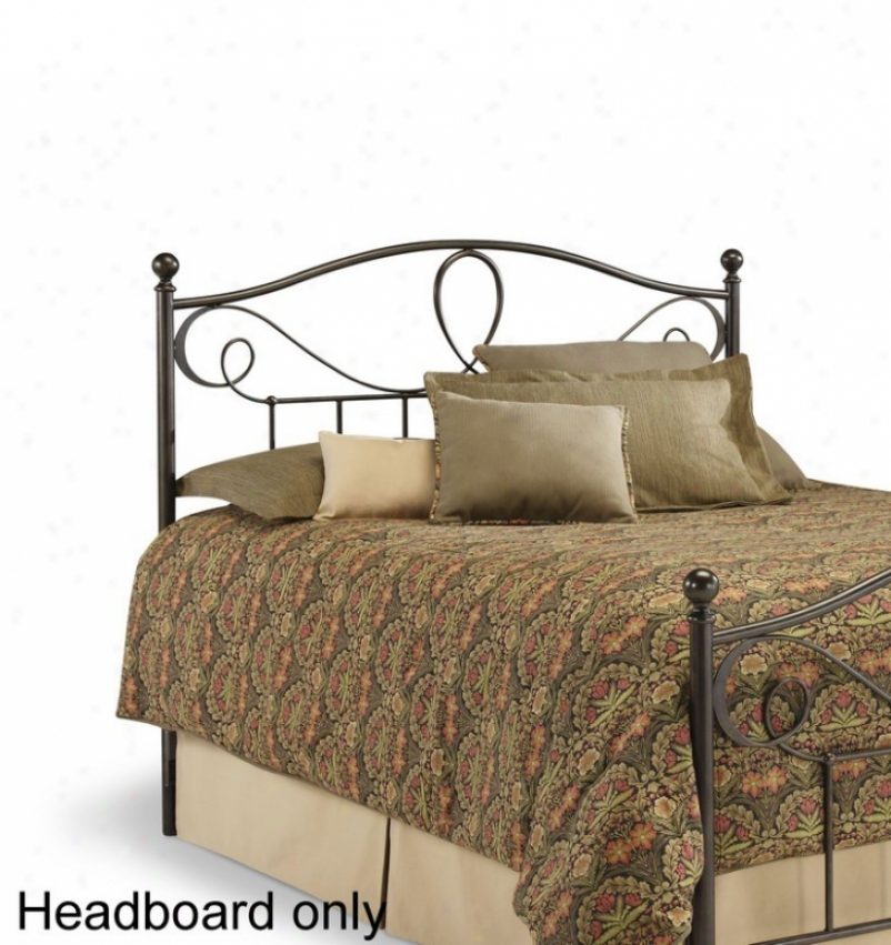 King Size Metal Headboard - Sylvania Transitional Style In French Roast Finisj