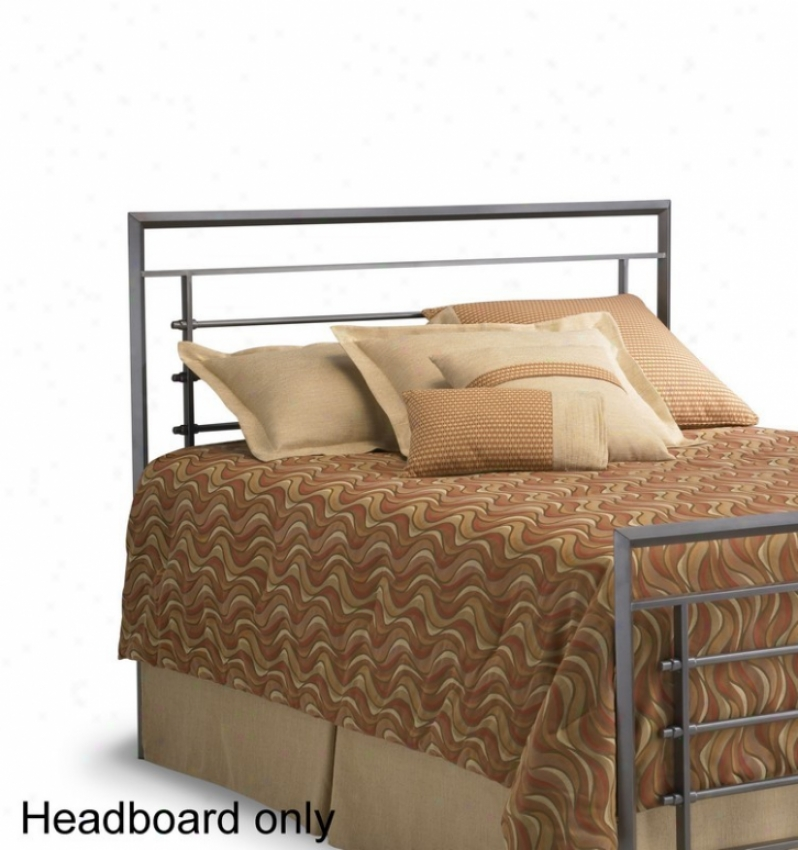 King Size Metal Headboard - Vista Contemporary Style In Iron Finish