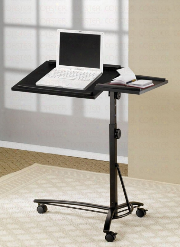 Laptop Computer Stand With Adjustable Eminence In Black Finish