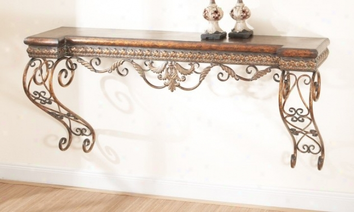 Large Wall Manntel In Antique Gold And Copper Finish