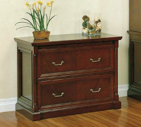Lateral File Cabinet Orally transmitted Style Bourbon Cherry Finishh