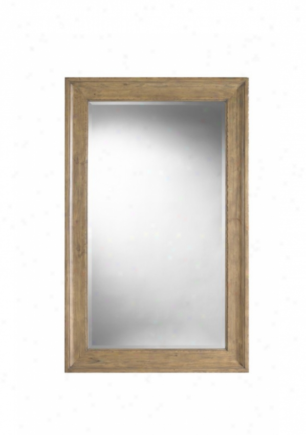 eLaner Wall Mirror In Nantucket Wash Finish