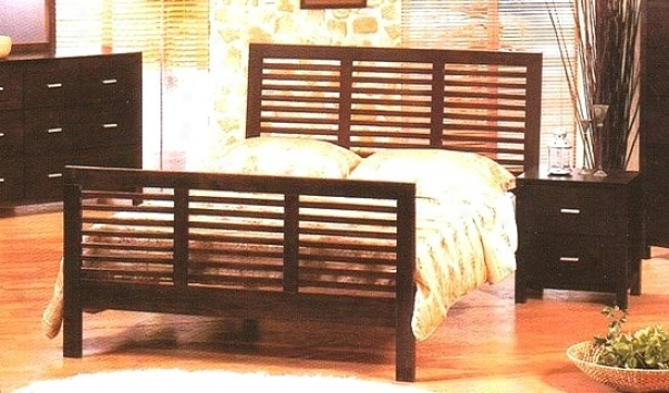 Lugano Accumulation Cherry Brown Finish Forest Queen Size Bed