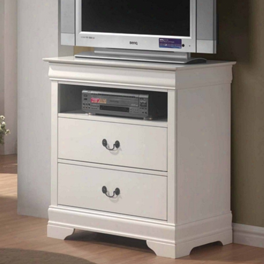 Media Chest Tv Dresser Louis Philippe Style In White Finish