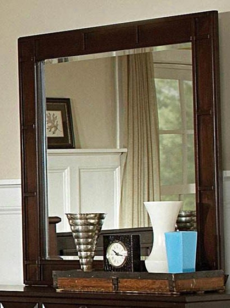 Mirrror With Wooden Frame In Rich Cappuccino Finish