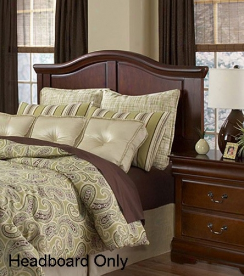 Nelson Traditional Distressed Cherry Headboard Against Full Or Queen Bed