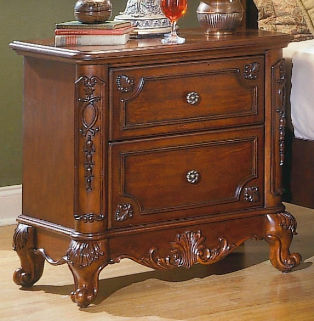 Night Stand Cabriole Legs In Warm Cherry Finish