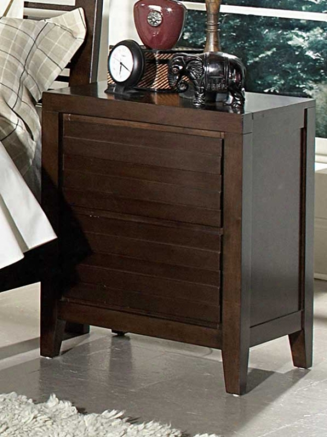 Night Stand Routed Drawers Design In Warm Espresso