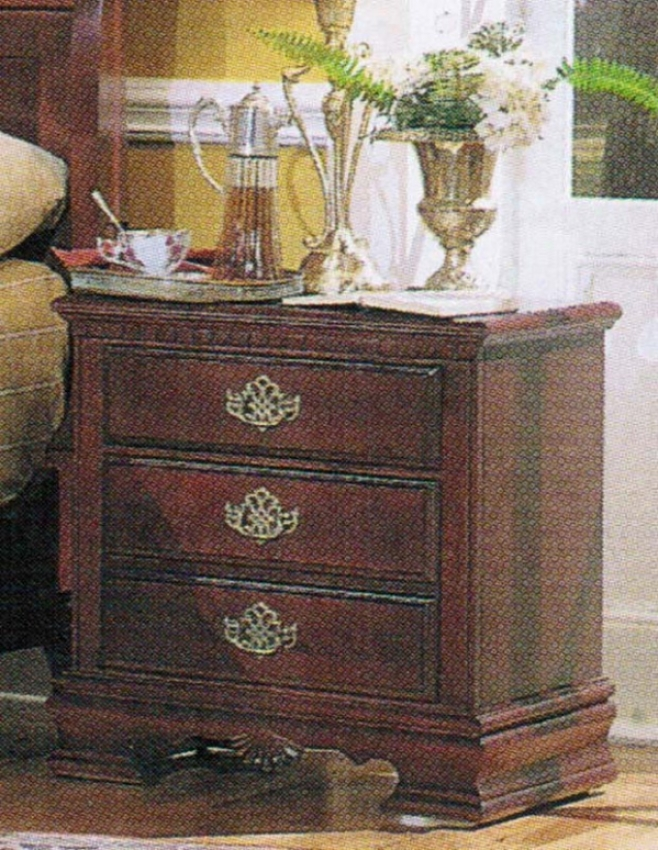 Nightstand Traditional Sytle Cherry Finish