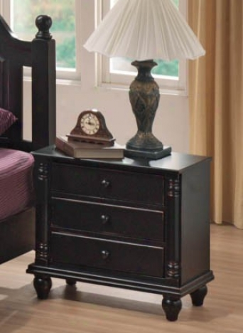 Nightstand With Bun Shaped Legs In Black End