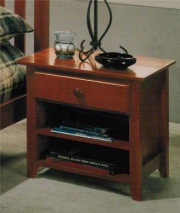 Nightstand With Contem0orary Style Design In Light Cherry Finish