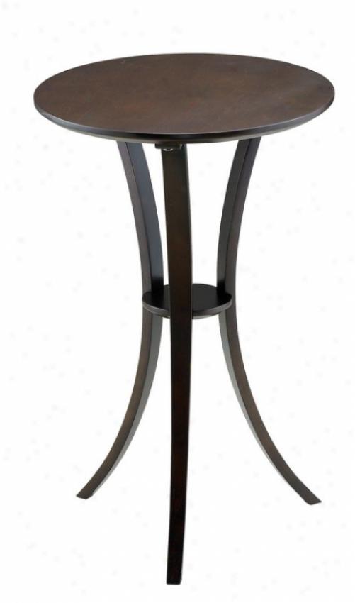 Pedestal Table - Montreal Dark Walnut Finish