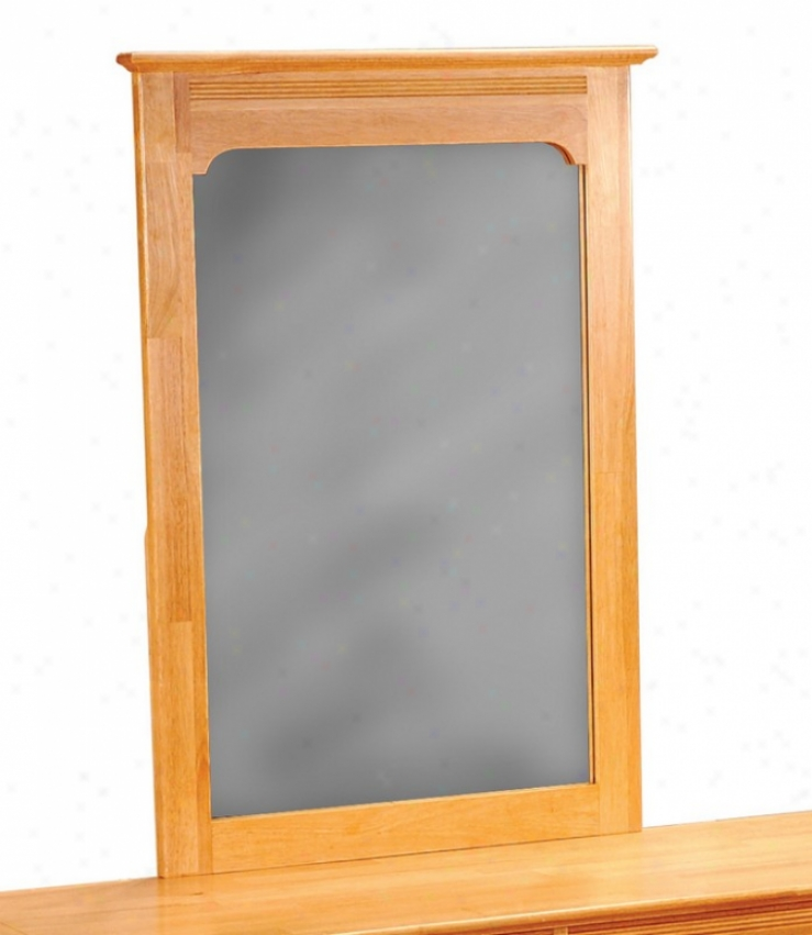 Portrait Mirror Windsor Style Natural Maple Finish