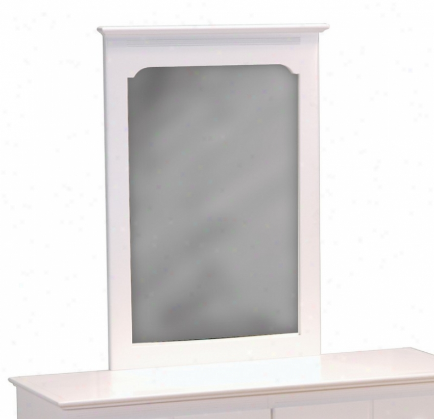 Portrait Mirror Windsor Style White Finish